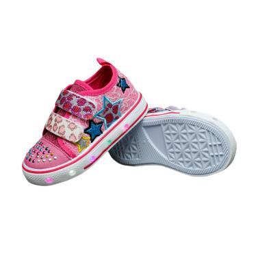 Kipper Type Osaka Lampu Sepatu Anak Perempuan - Merah Jambu