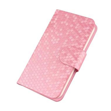 OEM Glitz Flip Cover Casing for Xiaomi Redmi 3S - 3S Pro - Merah Muda