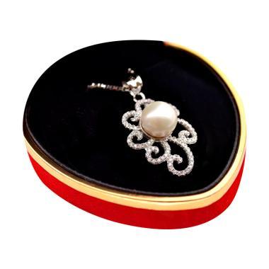 Royale Jewel WGP 092A Kalung Perak Emas Putih dan Mutiara Asli