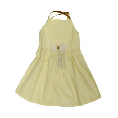 Tiny Button Infant Girl Fairy Dress Bayi - Yellow