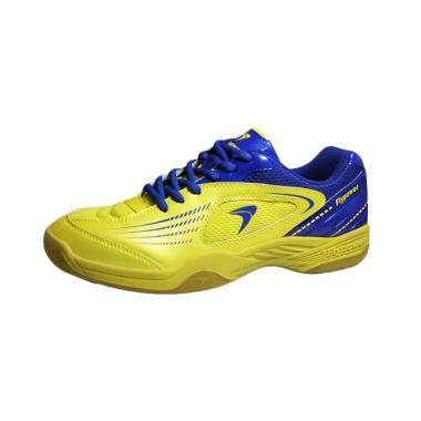 Flypower Plaosan 3 Sepatu Badminton - Lime Yellow Blue