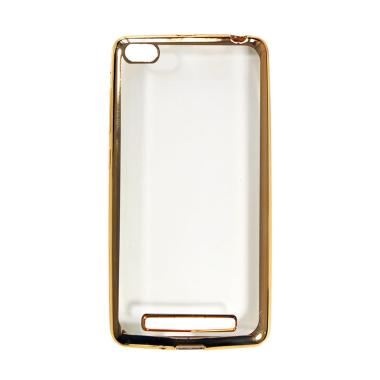 OEM Shining Chrome Softcase Casing for Xiaomi Mi5s or Mi 5S 4G - Gold