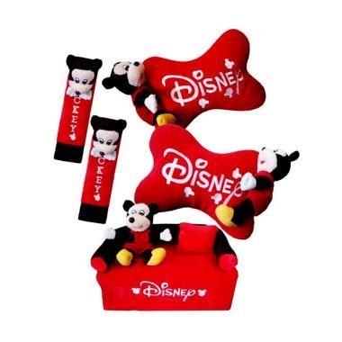 HL Fiesta 3in1 Boneka Mickey Aksesoris Interior Mobil - Merah