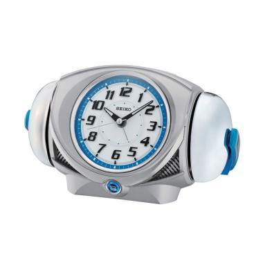 SEIKO QHK045S Lumibrite Quiet Sweep Loud Alarm Clock - Silver