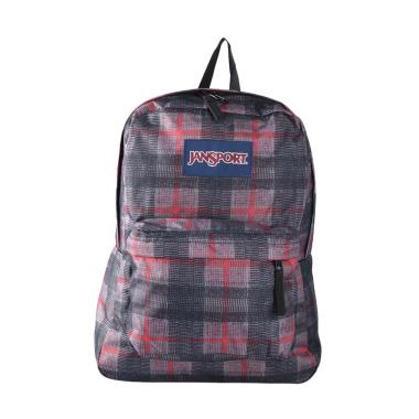 Jansport Superbreak Tape Knit Plaid LBJST50106G Backpack - Red