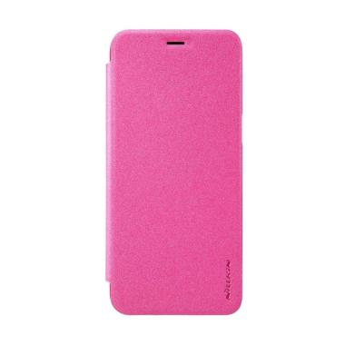 Nillkin Sparkle Leather Casing for Samsung Galaxy S8 Plus - Pink