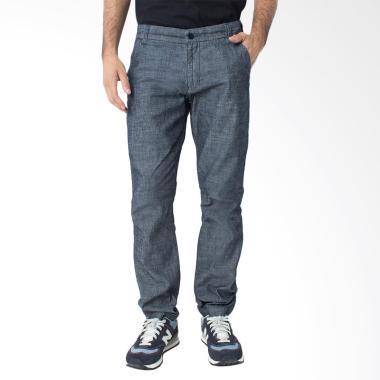 People's Denim Men Chinos Cygnuzz Slim Comfort Fit - Biru