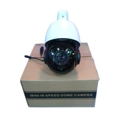 OEM Mini Speed Dome PTZ Outdoor HDTVI Kamera CCTV - Putih Hitam