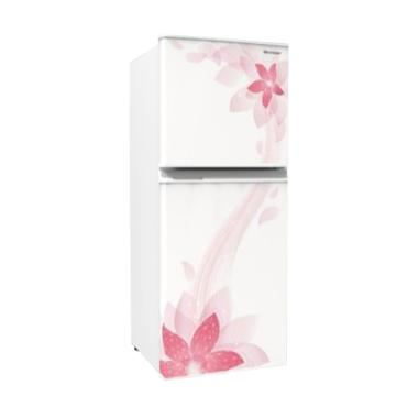 Sharp SJ-236ND-FW Kirei II Refrigerator - Flower White [2 Doors/ 187L]