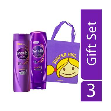 SUNSILK Lively Straight Shampoo dan ... ime Free Surfer Girl Bag]