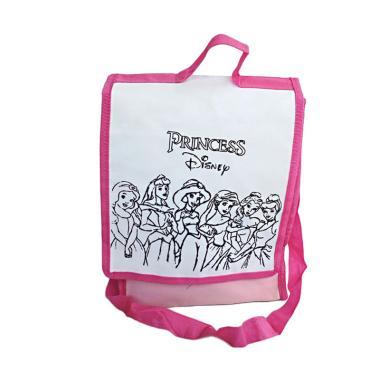 Unique Spunbag Drawing Barbie Princess Goodie Bag - Merah Muda