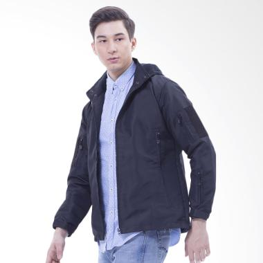 OEM Softshell Outdoor Taktis Militer Sharkskin Jacket - Black