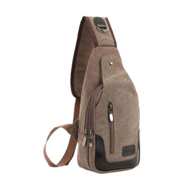 Martinversa Canvas Import Sling Bag Tas Pria - Brown