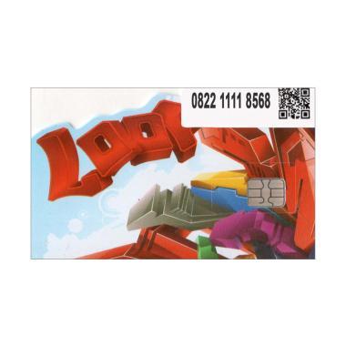 Telkomsel Simpati LOOP Nomor cantik 0822 1111 8568 Kartu Perdana .