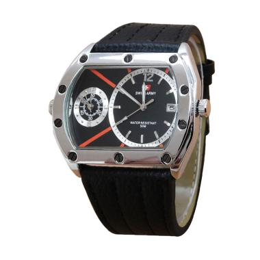 Swiss Army SA 65701 Dual Time Jam Tangan Pria - Black