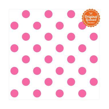 york york polkadot white bright pink wallpaper sticker dinding full02