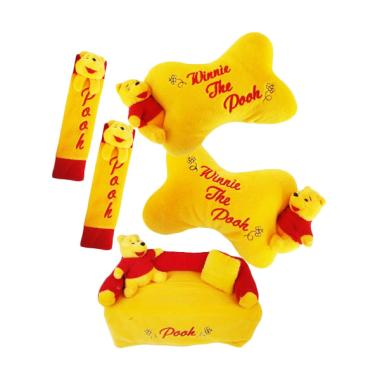 HL Fiesta 3in1 Boneka Pooh Aksesoris Interior Mobil - Kuning