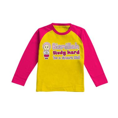 Aitana AiK-16-010 Studyhard Kids Kaos Muslim Anak Perempuan - Kuning