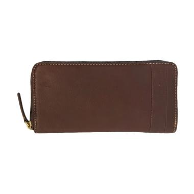 Fossil Lufkin Long SWL 1447201 Dompet Wanita – Dark Brown