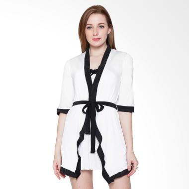 Sexy Sleep SS59 Kimono Lynn Baju Tidur Wanita - White