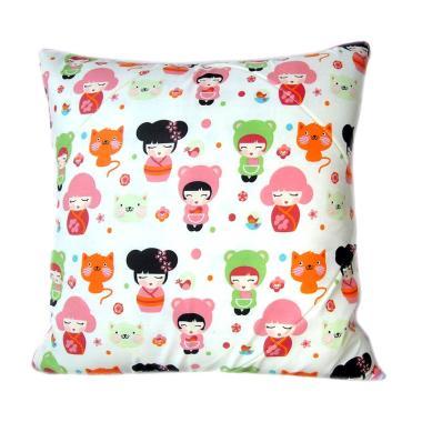 Melia Bedsheet Doll 'n Cat Sarung Bantal Sofa - Multicolor