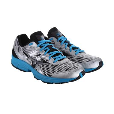 Mizuno K1GA160310 Sepatu Running - Spark White Black Atomic Blue