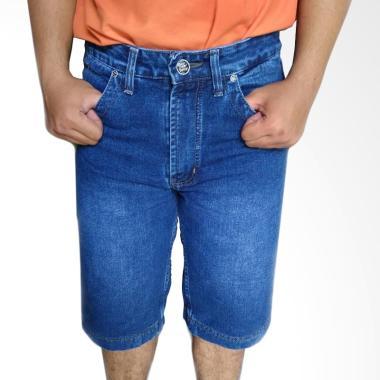 Evergreen HR 7868 Pendek Jeans Celana Pria - Biru