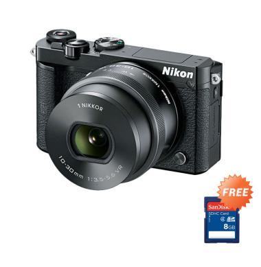 Nikon 1 J5 Kit 10-30mm VR Kamera Mi ... k + Free Memory Card 8 GB