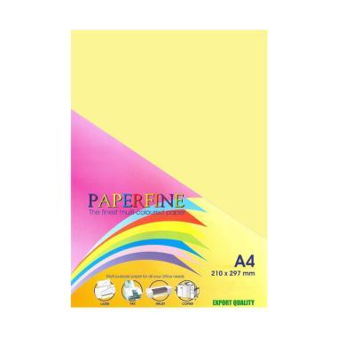 Paperfine Kertas HVS Warna - Kuning Muda [A4 / 25 Lembar]