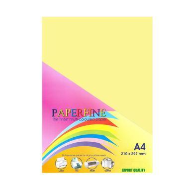 Paperfine Kertas HVS Warna - Kuning Muda [A4 / 500 Lembar]