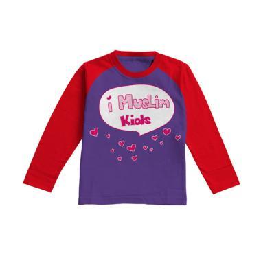 Aitana Kids AiK-16-008 iMuslim Kaos Muslim Anak Perempuan - Ungu Tua