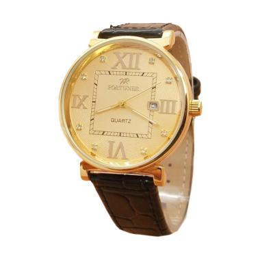 Fortuner FR3255 Jam Tangan Pria - Gold Black