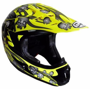 harga Snail Helm Full Face MX309 Motocross Motif Skull - Kuning Kilap - Aksesoris Motor - Variasi Motor - PROMO ONLINE XL Blibli.com
