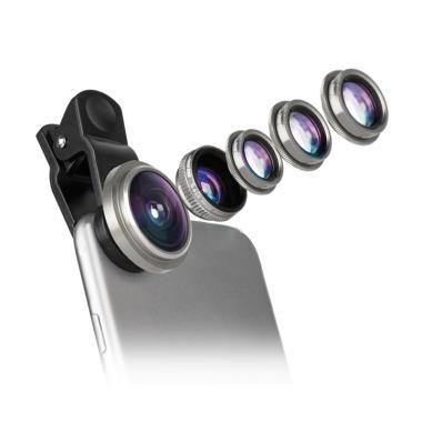Capdase Super Fish Eye 6in1 Lensa Kit for Smartphone or Tablet