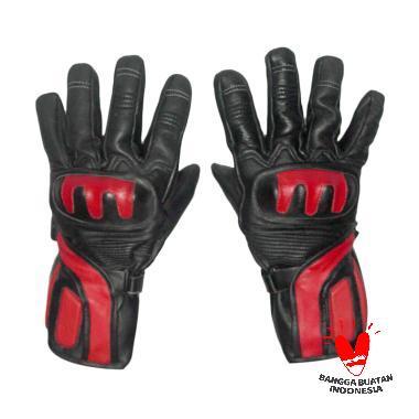 Gauravi Fashion Full 010 Gloves Sarung Tangan - Black Red