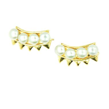 The Moes & Knot Jewelry Pearl & Spike Earring