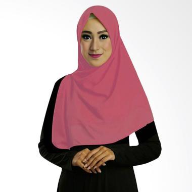 Ruman Hijab Square Jilbab Kerudung Segi Empat TS - Peach Tua
