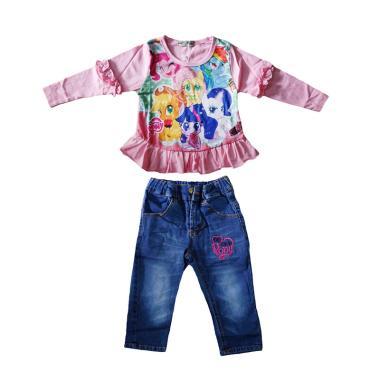 Lil Rose Pony Renda Pink J Baju Setelan Anak Perempuan - Pink