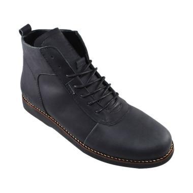 SAUQI Kulit Asli CH Sepatu Boots - Brodo Soul Black