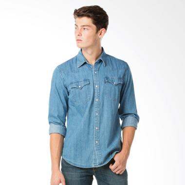 Levi's 66986-0021 Classic Western Shirt Stonewash Denim Kemeja Pria