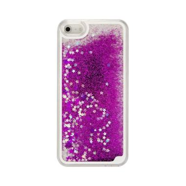 Case Water Glitter Softcase Aquariu ... one 4 or iPhone 4S - Ungu