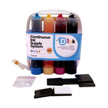D ink Paket Tabung Tinta Infus CISS for Printer Canon [50 mL/4 Warna]