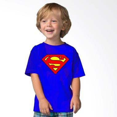 Adamsbell Superhero Superman Combed Premium Kaos Anak - Blue
