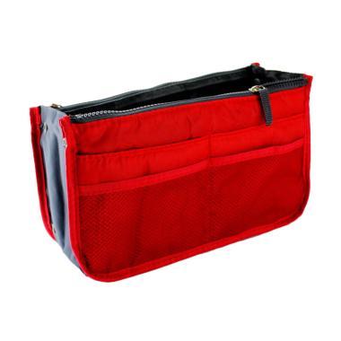 Chanel7 Bag In Bag Import Aksesoris Travelling - Merah