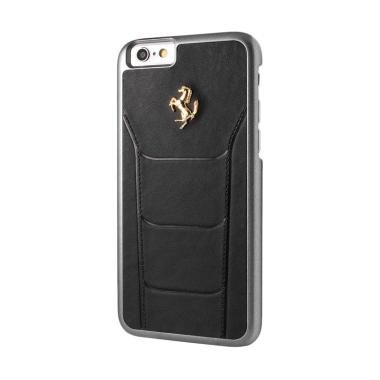 Ferrari Gold Debossed Leather Casin ... 6 Plus or 6S Plus - Hitam