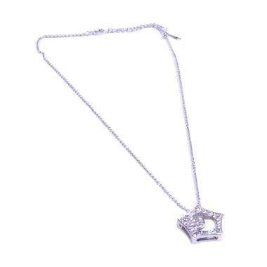 Bella & Co Titanium Lapis Emas Putih Kalung 18K - Silver