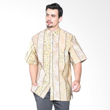 etniKita Batik Kombinasi Kemeja Batik Lengan Pendek Pria 03