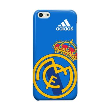 Indocustomcase Real Madrid Logo Casing For Apple iPhone 5C - Blue