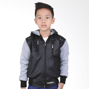 Catenzo Junior Casual CJR CDI 120 Jaket Anak Laki Laki - Black