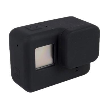 GoPro Hero 5 / Hero 6 Silicone Case with Lens Cap Cover - Hitam